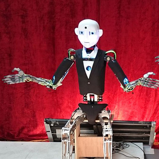 Robot Rental by Engineered Arts RoboThespian Hired Trade Show IEEE