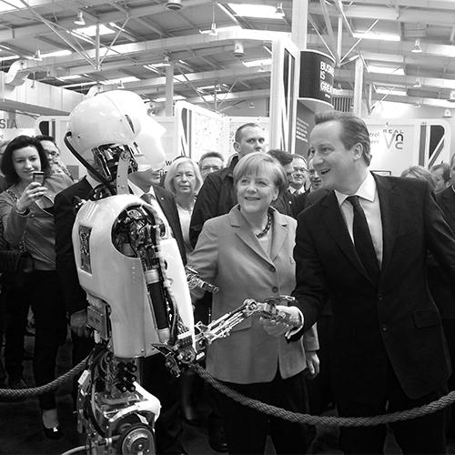 Robot Rental, RoboThespian_Cameron_Merkel_CeBIT_2014