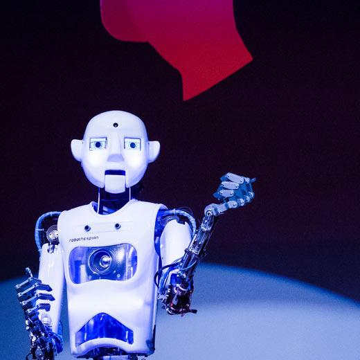 Robot Rental - Robot Ted Talk, RoboThespian TEDx Truro